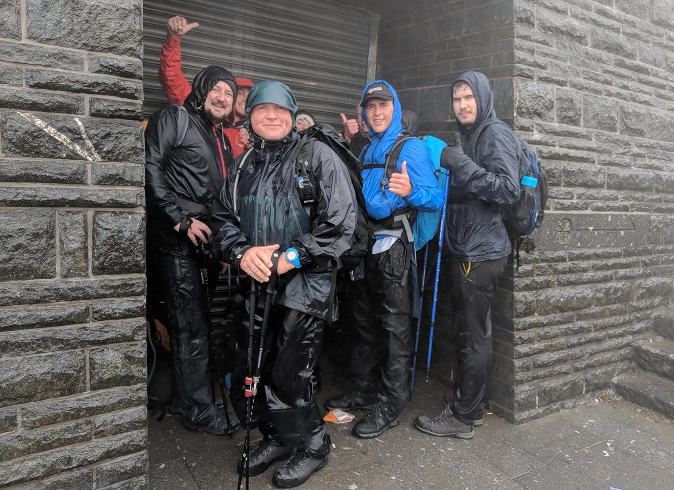 Sheltering from the rain by Snowdon